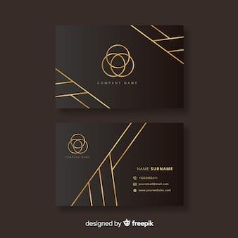 Flat elegant business card template