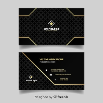 Flat elegant business card template