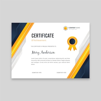 Flat elegant certificate template