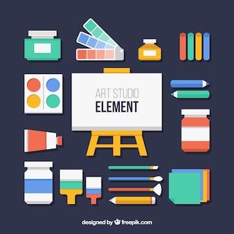 Плоские элементы для художественной студии