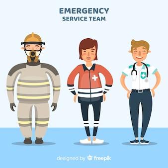 Flat emergency team design