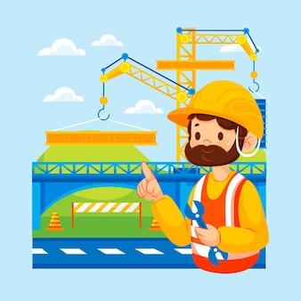 Ingegneria e costruzione piane illustrate