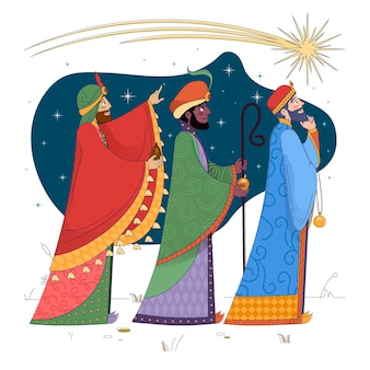 Flat epiphany with the three wise men