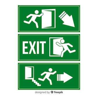 Flat exit sign collection