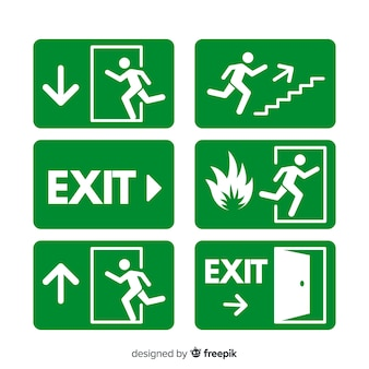 Exit Sign Vectors Photos And Psd Files Free Download