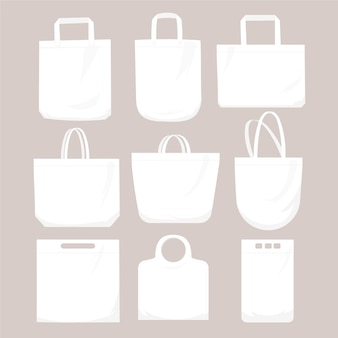 Flat fabric bag collection