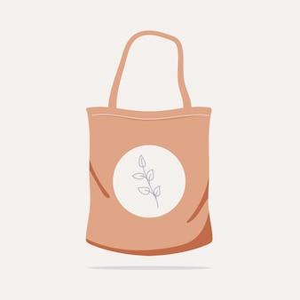 Плоская тканевая сумка на иллюстрации