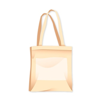Flat fabric bag illustrated