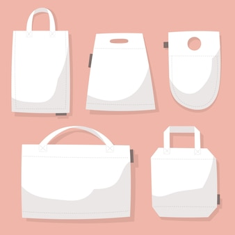 Flat fabric bags collection
