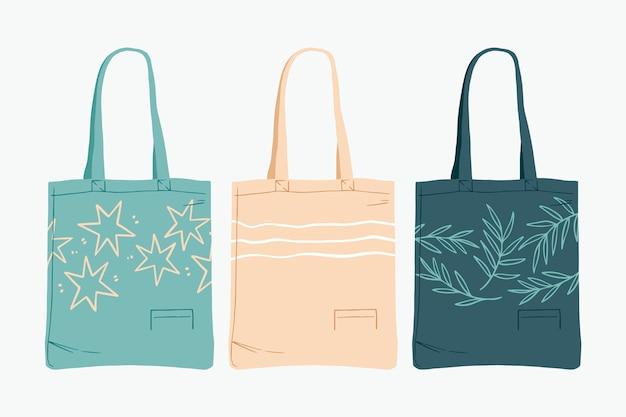 Коллекция плоских тканевых сумок