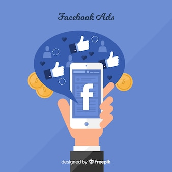 Flat facebook ads background
