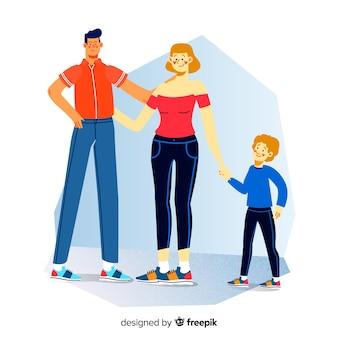 Плоский семейный портрет