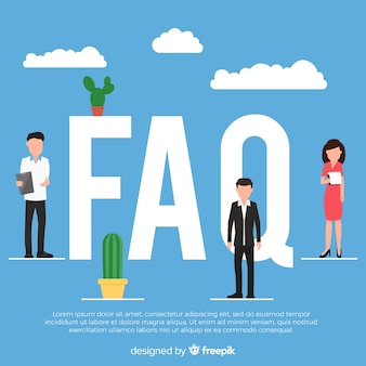 Flat faq background template