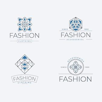Коллекция логотипов плоских модных аксессуаров