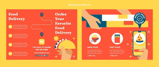 Modello di brochure piatto fast food