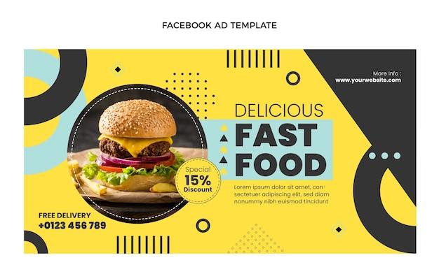 Modello di facebook piatto fast food