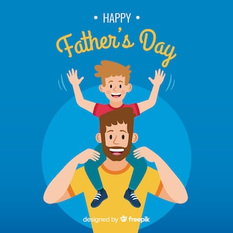 Flat father's day background