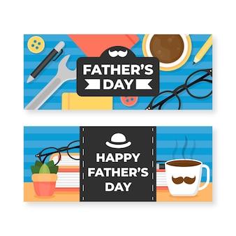 Set di banner piatto festa del papà