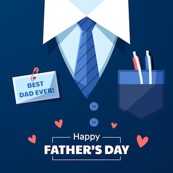 Flat father's day illustration Premium Vector