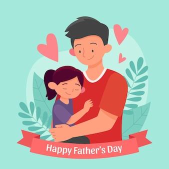 Плоская иллюстрация дня отца