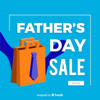 Flat father's day sale background