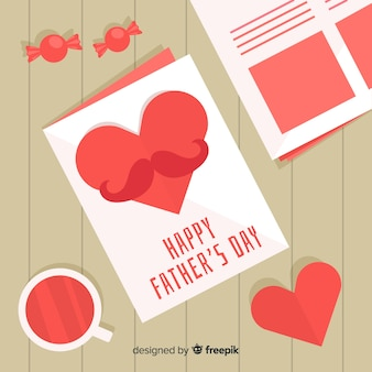 Flat fathers day background