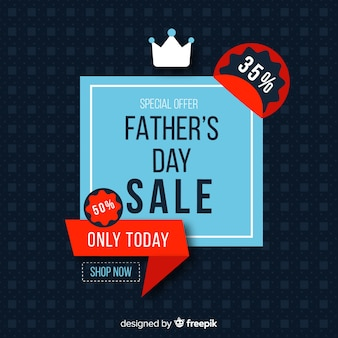 Flat fathers day sale background