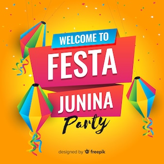 Flat festa junina background