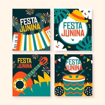 Коллекция открыток flat festa junina