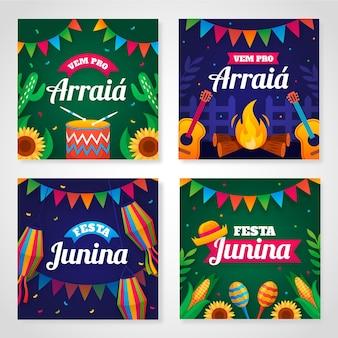 플랫 페스타 junina 카드 컬렉션