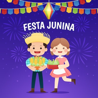 Flat festa junina illustration