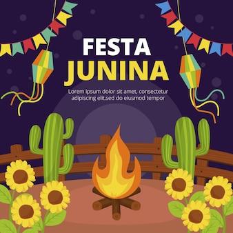 Flat festa junina illustration