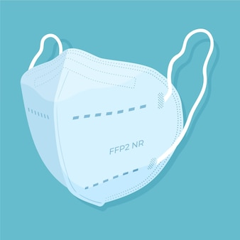 Flat ffp2 face mask illustration