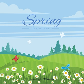 Flat field spring background