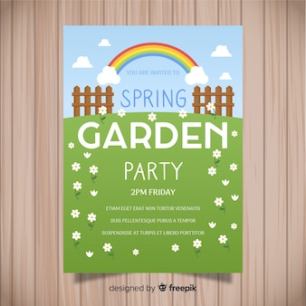 Flat field spring party poster