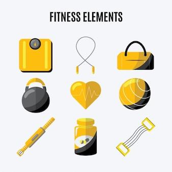 Flat fitness elements