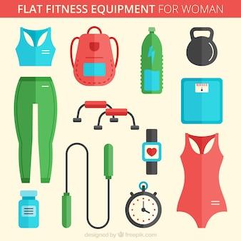 Attrezzature per il fitness piso donna