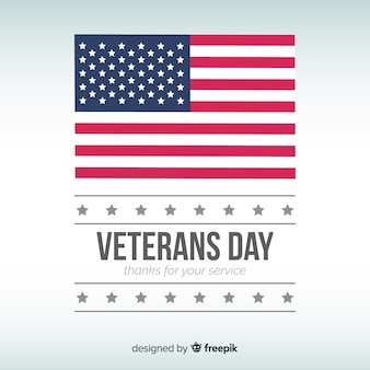 Flat flag veteran's day background