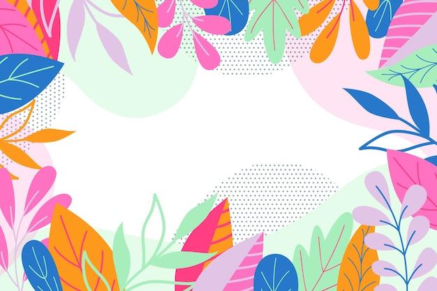 Плоский цветочный абстрактный фон