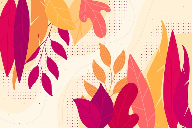 Flat floral background abstract