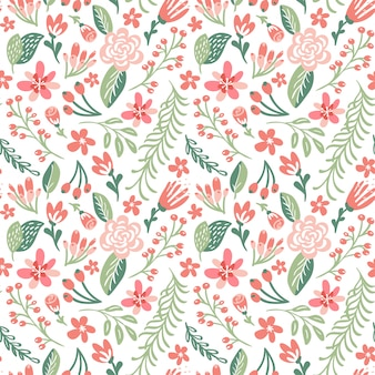 Flat floral background spring. seamless vector pattern and fashion prints