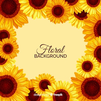 Flat floral background