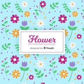 플랫 꽃 배경