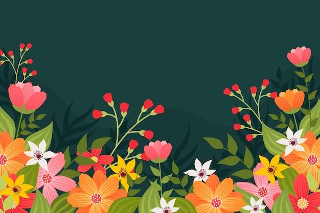 平的花卉背景