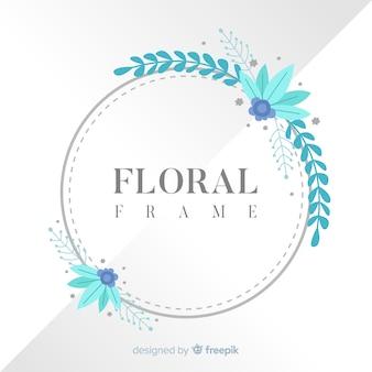 Flat floral frame