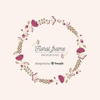 平らな花のフレーム