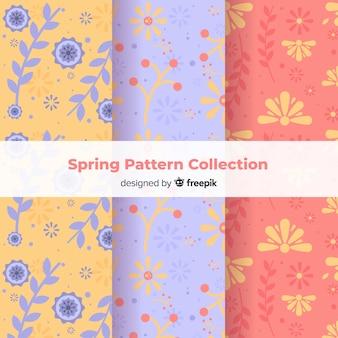 Flat floral spring pattern