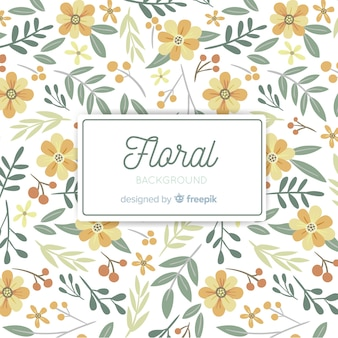 Flat flower background