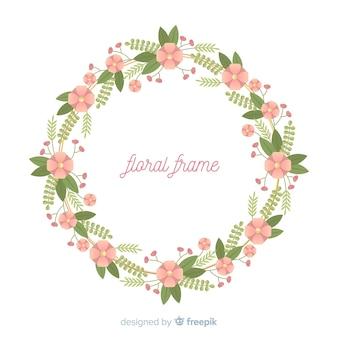 Flat flower frame background