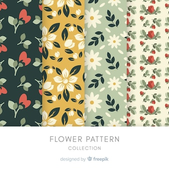 Flat flower pattern collection